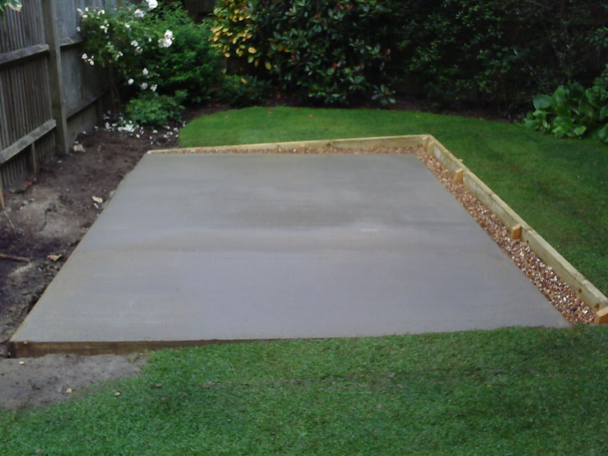 Sheds albion fencing Base for concrete driveway